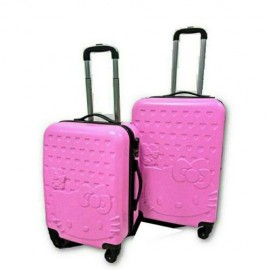 image of Hello Kitty 2 in 1 Luggage Bag Set Travel Bag with Wheel