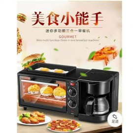 image of 3 in 1 Multifunction Breakfast Maker Toaster Coffee Machine Oven Electric Frying