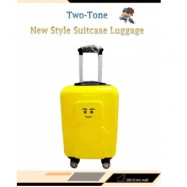 image of 20 inch High Quality Hand Carry Two-Tone New Style Suitcase Luggage With Keylock
