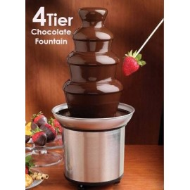 image of 4-Tier Capacity Stainless Steel Chocolate Fondue Fountain