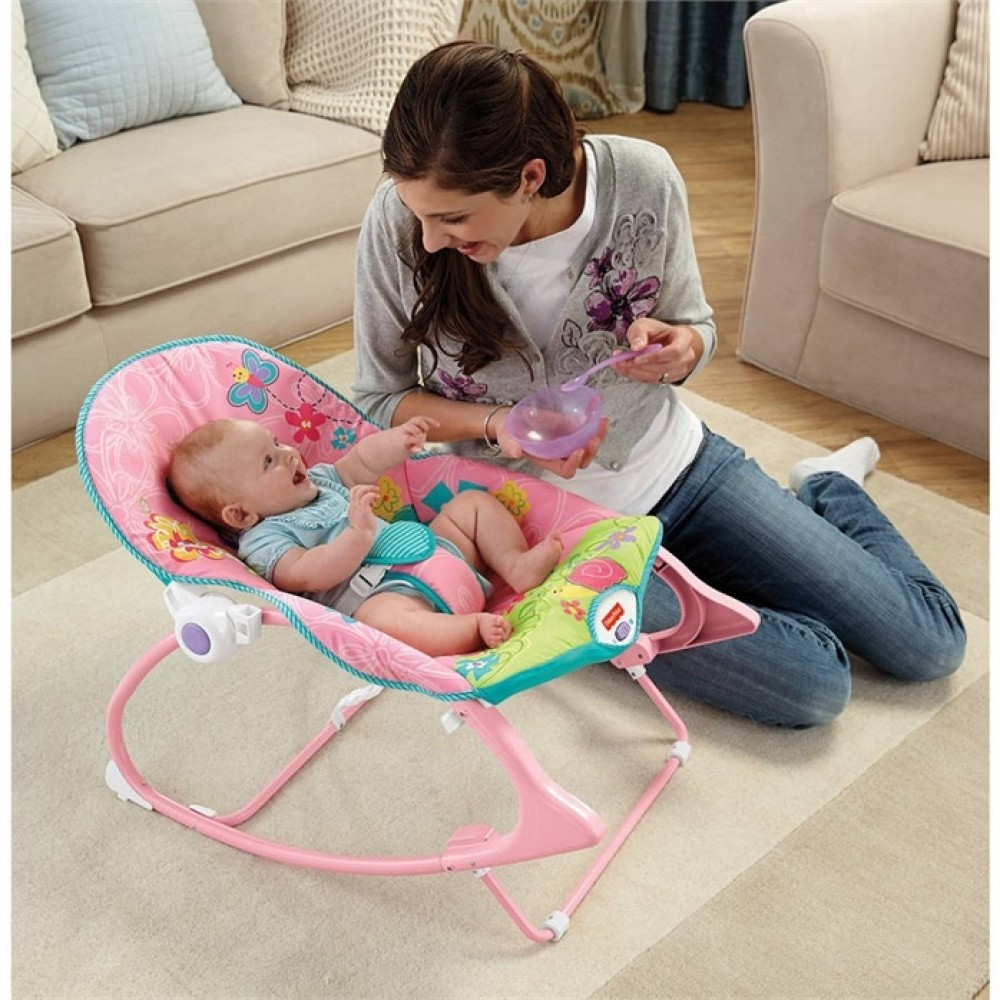 Baby Toddler Rocker - Pink Butterfly