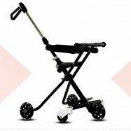 image of NEW Premium Korea Magic Stroller with 5Wheels & Security Fence Easy (Black)