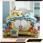 【Garfield - King Size】5 in 1 Bed Sheet set Cute Cartoon Design Fitted Bed Sheets ( Quil Cover: 80 x 90 )
