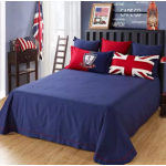 【UK - Queen Size】5 in 1 Bed Sheet set United Kingdom Design Premium High Quality Fitted Bed Sheets ( Quil Cover: 80 x 90 )