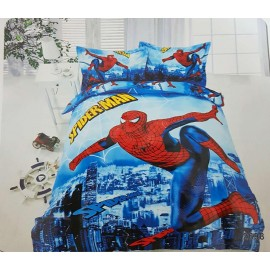image of 【Queen Size - Spiderman】5 in 1 Bedding Set / Bed Sheet / Bedclothes Bed Set Duvet Bed Cover For Children Kids Cartoon Bed Linen Cartoon