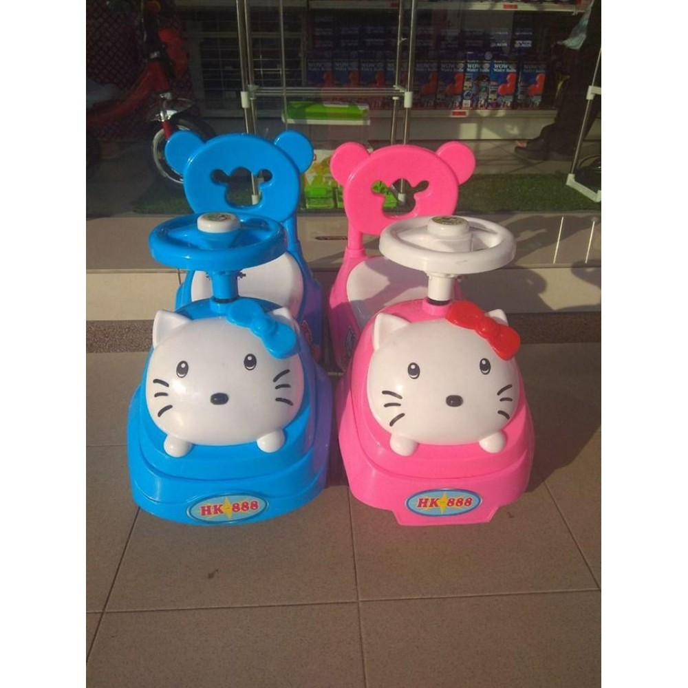 Hello Kitty Baby Car Walker Toddler Children Kid Push Car Ride On Music Press Horn