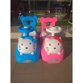 image of Hello Kitty Baby Car Walker Toddler Children Kid Push Car Ride On Music Press Horn