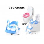 3in1 Kids Toilet Ladder Toddler Baby Training Toilet Potty Seat Non Slip Trainer