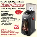 Handy Wall Air Warmer Electric Heaters Thermostat Home Bathroom Bedroom Camping