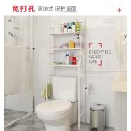 image of Multifunctional Toilet Bathroom Rack Holder Bathroom Shelves Tooth brush shampoo rack (White)