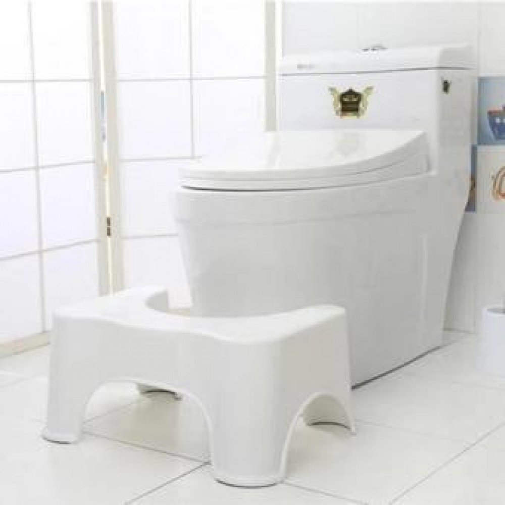 Toilet Poo Poo Stool Step Safety Thick Chair Kids Children Adult Step Stools Anti Slip Bathroom