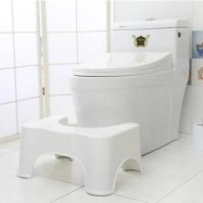 image of Toilet Poo Poo Stool Step Safety Thick Chair Kids Children Adult Step Stools Anti Slip Bathroom