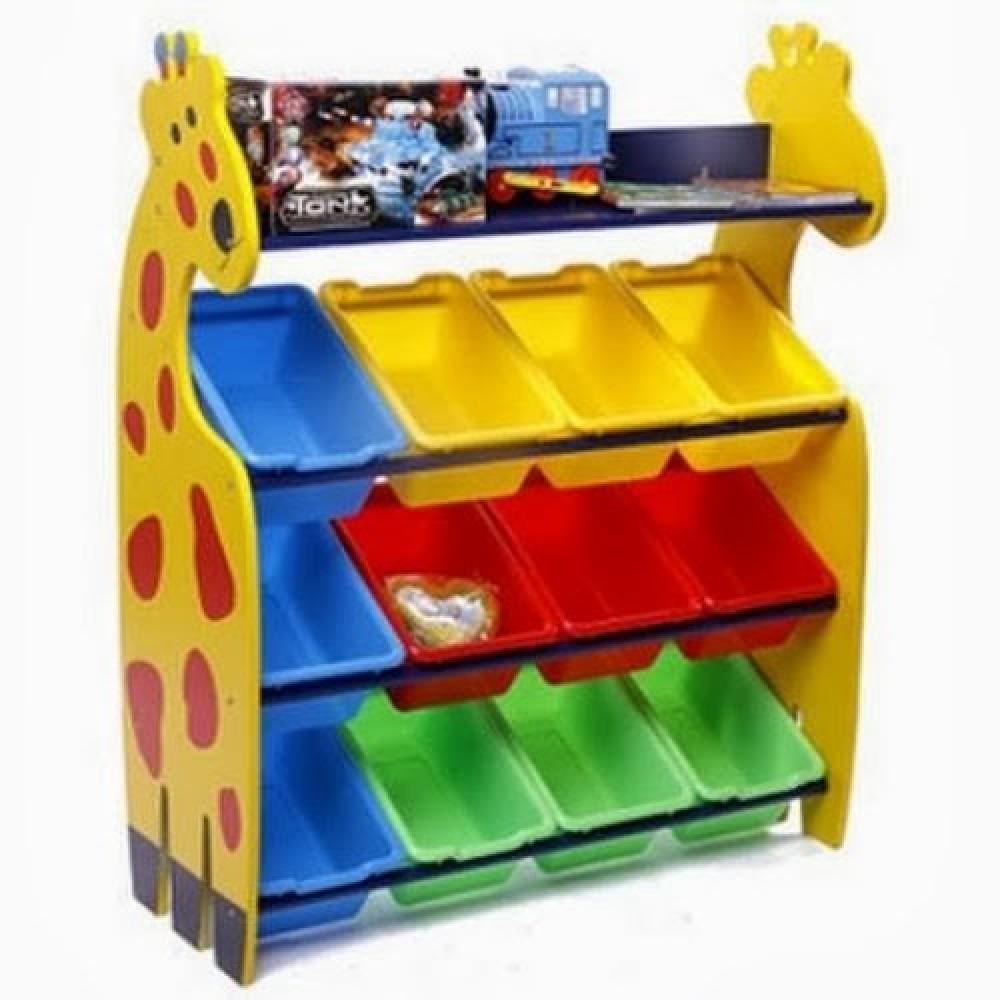 Giraffe Rack Kids Toy Organizer With 12