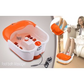 image of Foot Bath Massager - Multifuntion Electric Auto Deep Foot Bath Spa / Massager Display Spa Bath Rolling Massage Heat