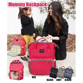 image of Angela Multifunctional Mummy Large Capacity Backpack Baby Diaper Nappy Bag
