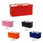 Foldable Storage Foot Stool Seat Footrest Folding Storage Box - Random Colour
