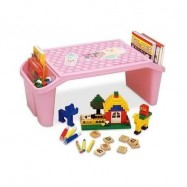 image of Child Kid Desk Table Children Furniture Drawing Studying Tables (Pink)