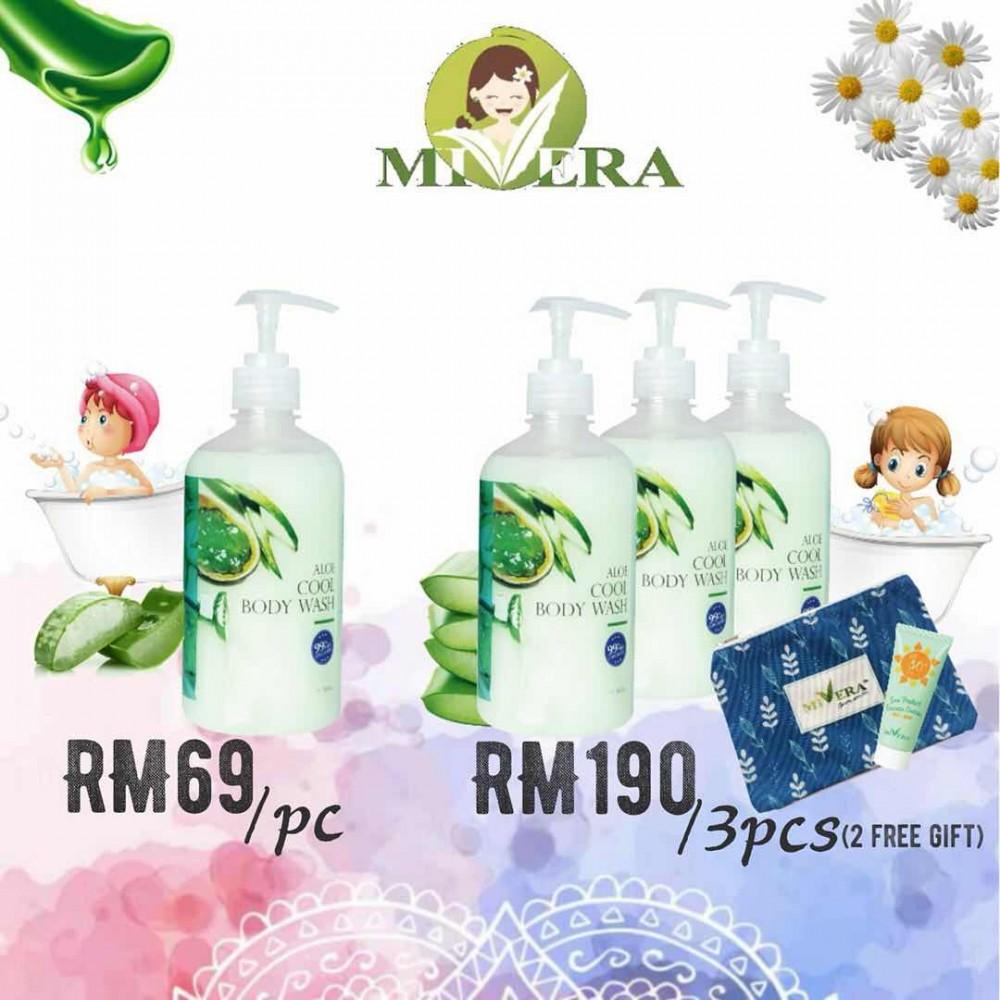 MIVERA Aloe Cool Body Wash (3pcs in 1 pkg) - 500ml x 3