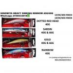 HINOMIYA HEAVY SINKING MINNOW PINTAIL 40G/60G