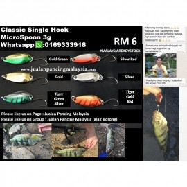 image of Classic Single Hook Micro Spoon 3g (RM 6)