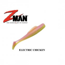 image of Zman Soft Lure MinnowZ 3 Inch, ELECTRIC CHICKEN
