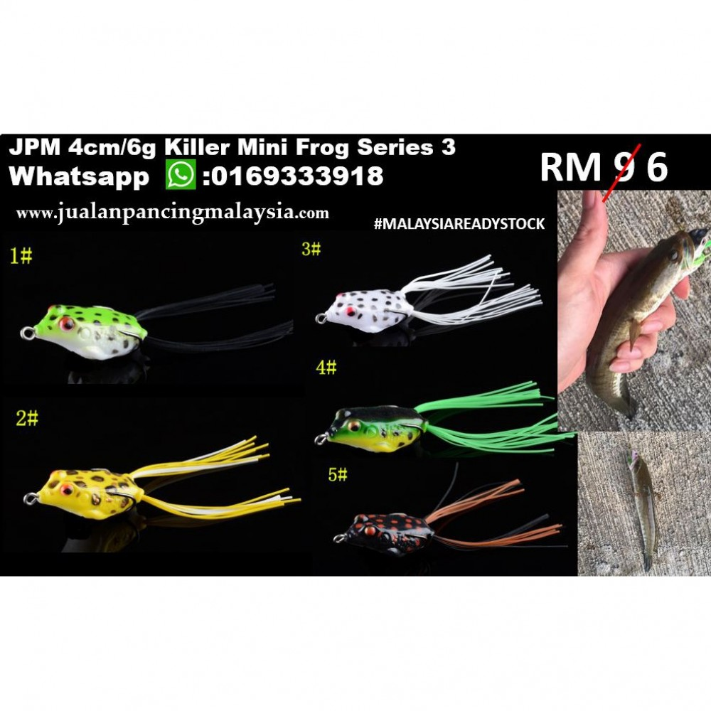 JPM 4cm Killer Mini Frog Series 3