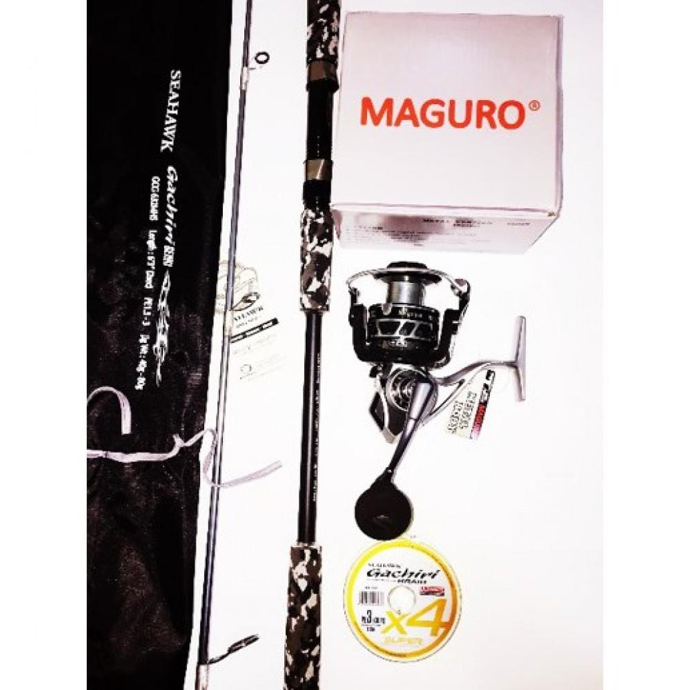 MAGURO METAL 4000 COMBO GACHIRI SOLID CARBON ROD
