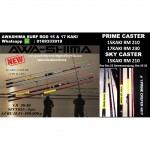 AWASHIMA PRIME CASTER AND SKY CASTER SURF ROD 15 & 17 KAKI