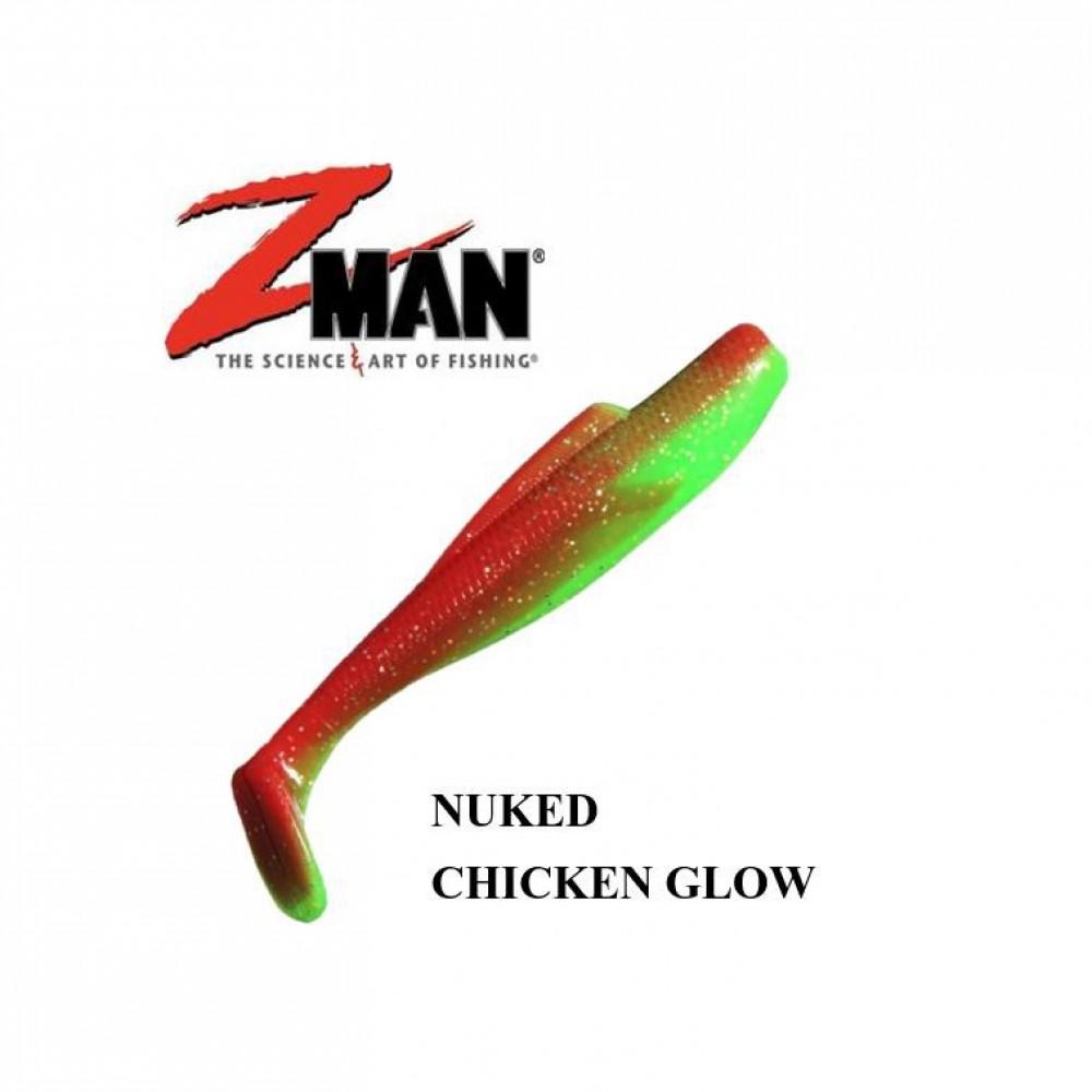 Zman Soft Lure MinnowZ 3 Inch, NUKED CHICKEN GLOW