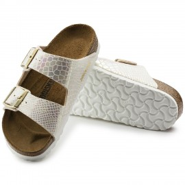 image of Arizona Birko-Flor (Shiny Snake Cream) Birkenstock