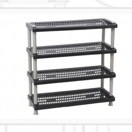 image of CENTURY SHOES RACK 4 tier 2289B (black)