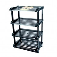 image of CENTURY SHOES RACK 4 tier 2288A (black)