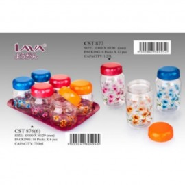 image of LAVA food container/Tupperware 750ml/1.25L/(750mlx6+tray)