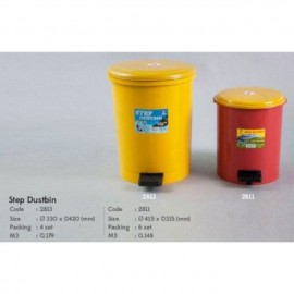 image of Twin dolphin plastic step dustbin 2811/2813