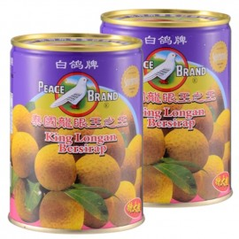 image of PEACE BRAND EXTRA LARGE KING LONGAN BERSIRAP 白鸽牌泰国特大龙眼王之王 565g