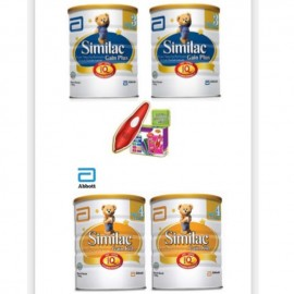 image of similac gain plus step 4 1.8kg x2 tin FOC SMART PEN