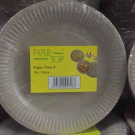 image of PARTY PAPER TOP paper plate 7' /8' /9' 100pcs 油盘