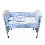 7 in 1 Baby Soft Bedding Set Blue Color