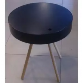 image of GRIFFIN Round Storage Side Table