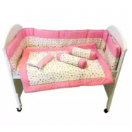 image of 7 in 1 Baby Soft Bedding Premium Set Pink Color