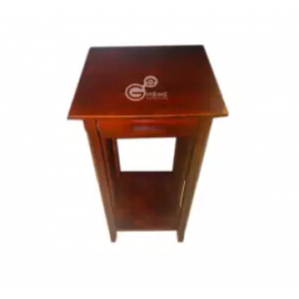 image of RYANA Solid Wood Caramel Color Side Table Height 30""