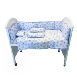 image of 7 in 1 Baby Soft Bedding Set Blue Color