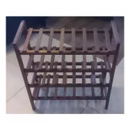 image of CLYDE Contemporary Brown Wooden Shoe Rack