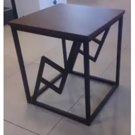 image of GREGOR Brown Square Side Table