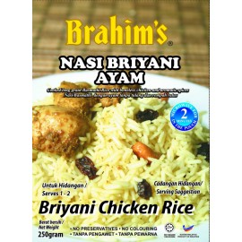 image of Brahim's Nasi Briyani Ayam 250g Brahim Brahims /Briyani Chicken Rice Travel Food