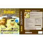 Brahim's Nasi Briyani Ayam 250g Brahim Brahims /Briyani Chicken Rice Travel Food