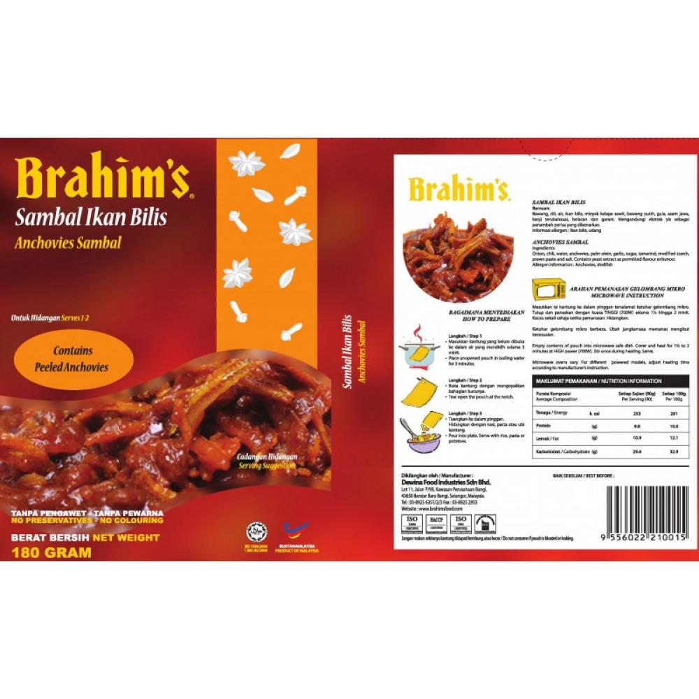 Brahim's Sambal Ikan Bilis 180g Brahim Brahims MRTE