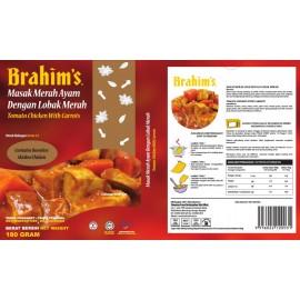 image of Brahim's Masak Merah Ayam Dengan Lobak Merah 180g Brahim Brahims MRTE