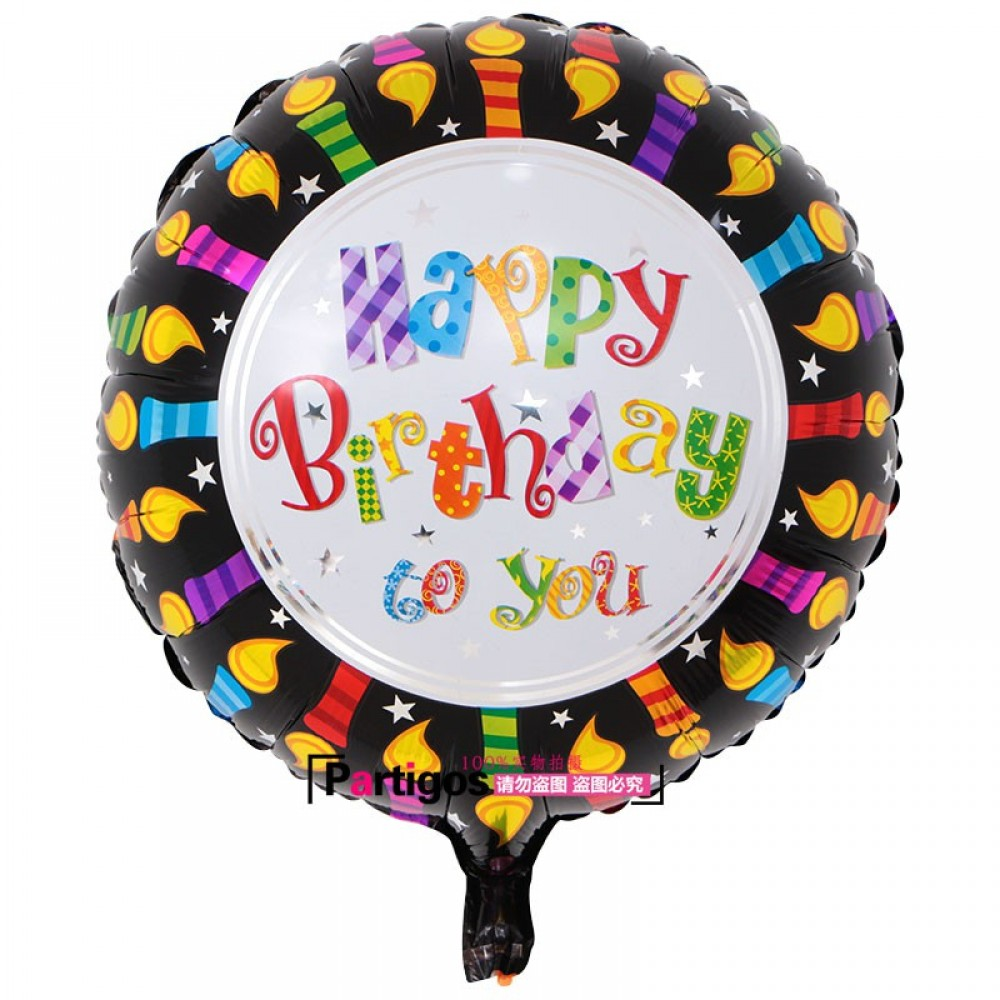 Happy Birthday Round 18inch Foil Balloons Helium Air Globos Balaos Gifts Decor