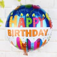 image of Happy Birthday Round 18inch Foil Balloons Helium Air Globos Balaos Gifts Decor (Design 2)